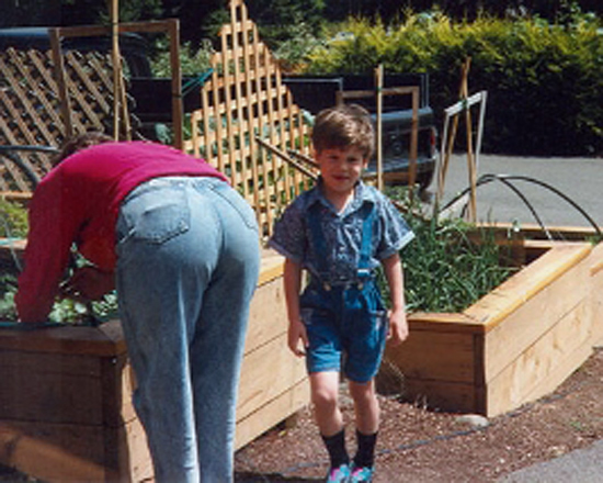 Raised beds are great for kids
